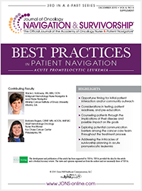 Best Practices in Patient Navigation – Acute Promyelocytic Leukemia Edition
